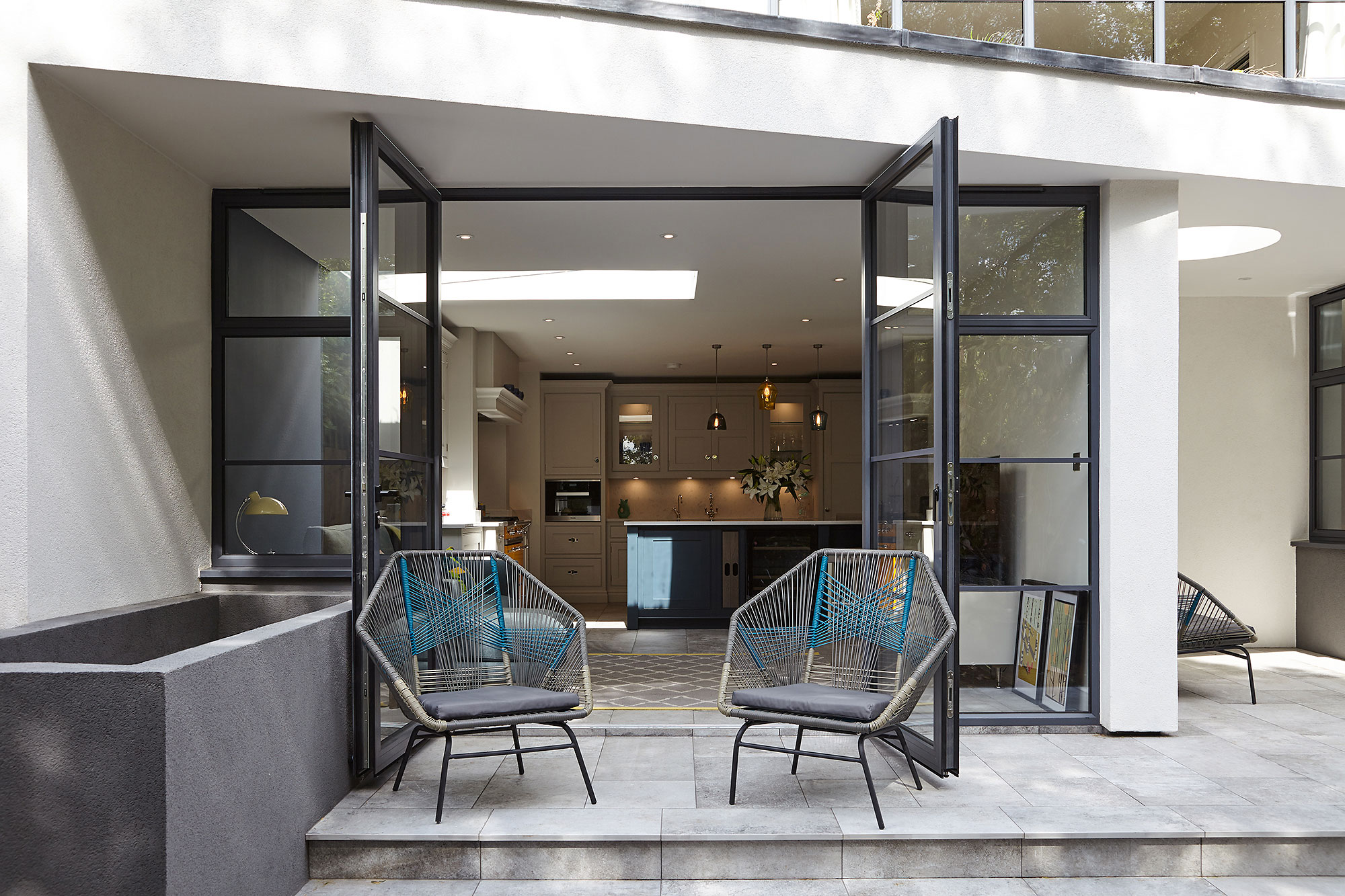 we can build a nice patio are for you to relax in with your new extension